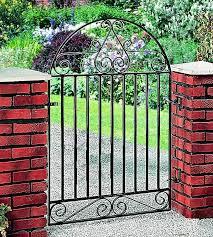 marlborough arched metal garden gate 4ft high