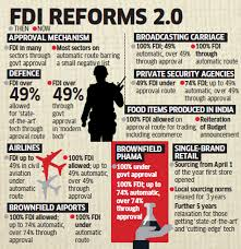modi government approves % fdi in aviation and food easier  modi government approves 100% fdi in aviation and food easier norms for defence pharma single brand retail