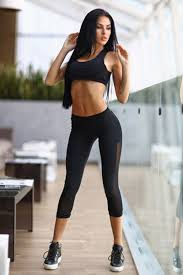 Girls in sexy workout wear