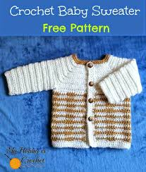 Crochet Baby Sweater Pattern Enchanting 48 Free Baby Sweater Crochet Patterns