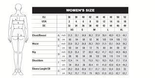 Ables Reference Size Chart For Beretta Clothing