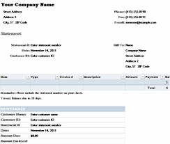 Excel 2007 Templates Free Download Billing Statement Statements Templates