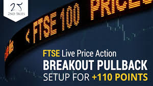 Ftse Live Chart Free Ftse Live Price Action Breakout Pullback Setup For 110 Points