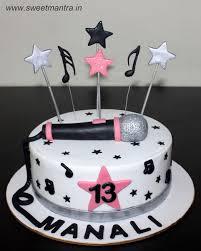 Music And Singing Theme Customised Designer Cake For Teenage Girls
