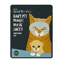 <b>Тканевая маска</b>-мордочка Holika Holika <b>смягчающая кошка</b> 22мл ...