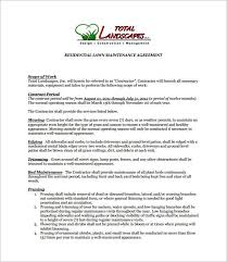 7 Lawn Service Contract Templates Free Word Pdf