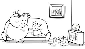 Daddy Pig Colouring Sheets Intindd