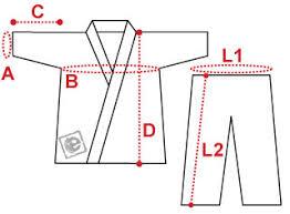 Size Chart Aikido Judo Uniform