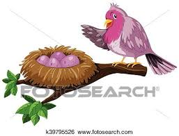 bird eggs clipart. Fine Bird Bird And Bird Nest With Eggs Illustration For Eggs Clipart S