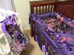 6pc Muddy Girl Camouflage Fabric with Purple and Pink Ruffled