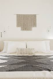 master bedroom decorating ideas woven wall hanging
