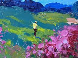 augusta club prints landscape painting canvas art prints from original oil painting of agostino veroni home