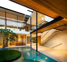 Tropical Modern Architecture Fancy Environmentally Friendly Modern Tropical  House In Singapore.