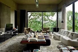 Amazing View In Gallery Living Room Of The Cool Brazilian Residence