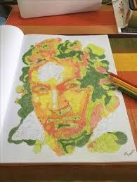 mi versión de beethoven en querkles del libro de thomas pavitte colores de la colorsbooks