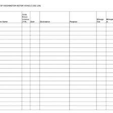 Ifta Trip Sheet Template Mileage Log Vehicle Excel Printable