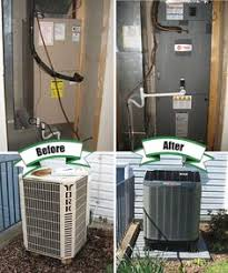 trane ductless mini split. the new outdoor unit is a trane xr15 heat pump and indoor ductless mini split