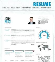 Manificent Decoration Visual Resume Templates Free Infographic