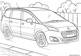 Coloriage Voiture Peugeot 5008 Dessin