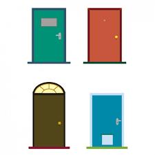 house door clipart. Colorful Doors House Door Clipart