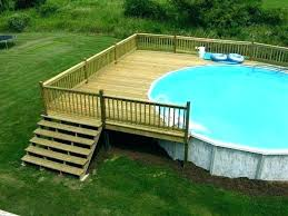 Above ground pool with deck attached to house Removable Pool Simple Pool Deck Plans Above Ground Ideas In Decorating Round Attached To House 5th Ave Frogger Round Above Ground Pool Deck Plans Decks Free Tributoaterciopelados