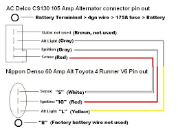 denso wire alternator wiring diagram denso image cs130 alternator wiring diagram 3 wire gm cs130 auto wiring on denso 2 wire alternator wiring