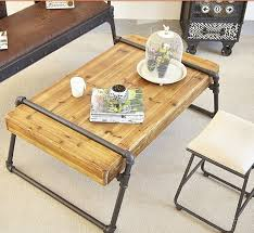 industrial wood furniture. Industrial Pipe Coffee Table, Solid Wood Furniture Factory Custom Rustic Wrought Iron Table A