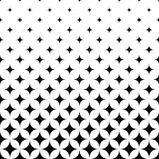 Seamless Monochrome Curved Star Pattern Design Background Royalty New Pattern