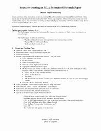 Mla Format For College Essay Unique Research Paper Outline Format