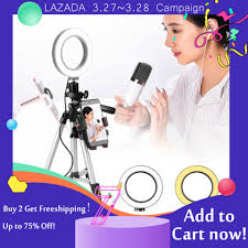 dels of nicetoempty 5 7 selfie ring light with tripod stand cell phone holder for makeup mini led camera ringlight for you