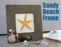 make a sandy beach frame for your summer memories kid friendly