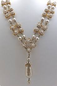 miriam haskell gilt pearl necklace and bracelet