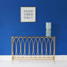 blue console table. Shallow Gold Hallway Table Blue Console B