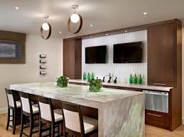 Interesting Modern Basement Bar With A Tv Digsdigs For Design Decorating