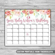 Printable Due Date Guess Calendar