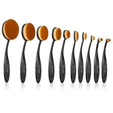 amazon makeup brushes 10 pieces oval makeup brush set professional contour soft toothbrush with shaped design for powder cream concealer beauty