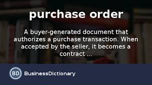 Purchase Order Template Open Office Magnificent What Is Purchase Order Definition And Meaning BusinessDictionary