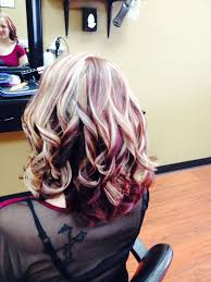 Red Red Violet Blonde Highlights And