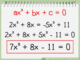 image titled find the roots of a quadratic equation step 1