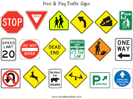 Small Picture Printable Traffic Signs for Kids Doodles and Jots