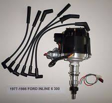 ford distributor ford inline 6 straight 6 cyl 77 86 300 black hei distributor spark