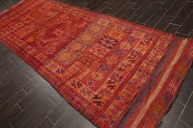 details about 4 11 x 13 7 antique hand knotted afgan thin pile wool oriental area rug runner