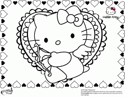 Be the first to comment. Hello Kitty Valentine Coloring Pages Coloring Home