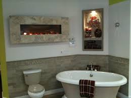 modern flames electric fireplace contemporary bathroom
