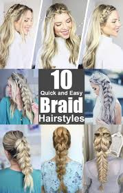 10 quick and easy braid hairstyles
