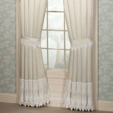 Lace Window Treatments Curtain Enchanting Lace Curtain Irish For Adorable Home