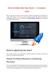 How To Make Mac Run Faster A Genuine Issue By Hanry Issuu