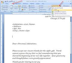 merging for dummies creating mail merge letters in word 2007 39