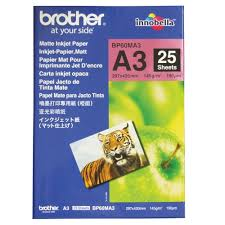 brother #bp-<b>60ma3</b> 145gsm a3 matte inkjet photo paper 25 sheet pack
