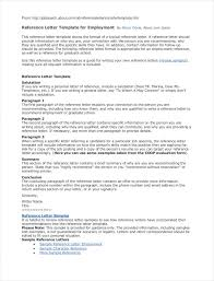 Referral Letter For Employment Employee Referral Letter Template Samples Letter Templates